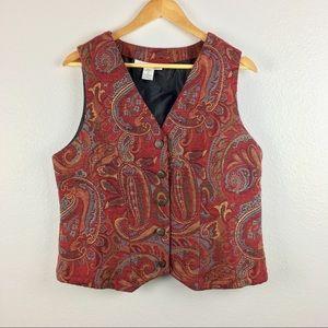 NWOT 90s vintage Serengeti tapestry vest